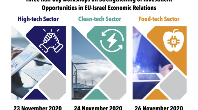 Workshops On Strengthening Investment Opportunities In EU-Israel Economic Relations